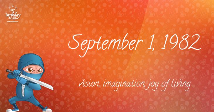 September 1, 1982 Birthday Ninja