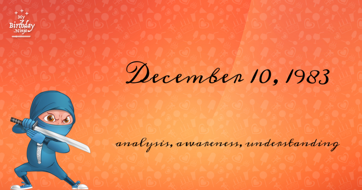 December 10, 1983 Birthday Ninja