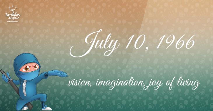 July 10, 1966 Birthday Ninja
