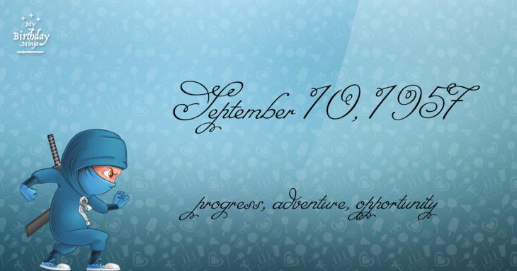 September 10, 1957 Birthday Ninja