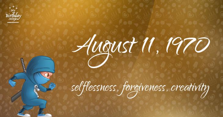 August 11, 1970 Birthday Ninja
