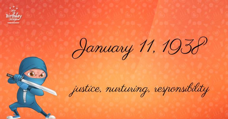 January 11, 1938 Birthday Ninja