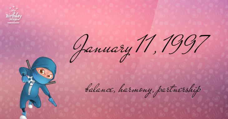 January 11, 1997 Birthday Ninja