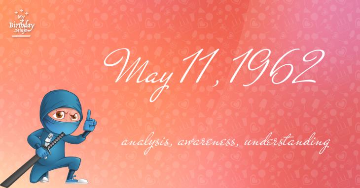May 11, 1962 Birthday Ninja