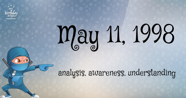 May 11, 1998 Birthday Ninja