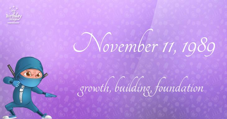 November 11, 1989 Birthday Ninja
