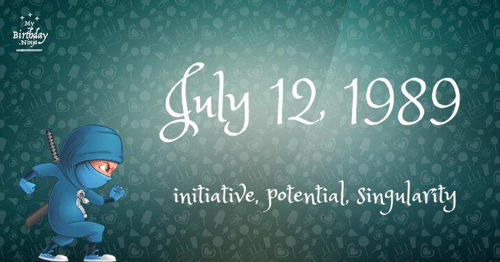 July 12, 1989 Birthday Ninja