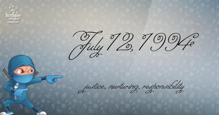 July 12, 1994 Birthday Ninja