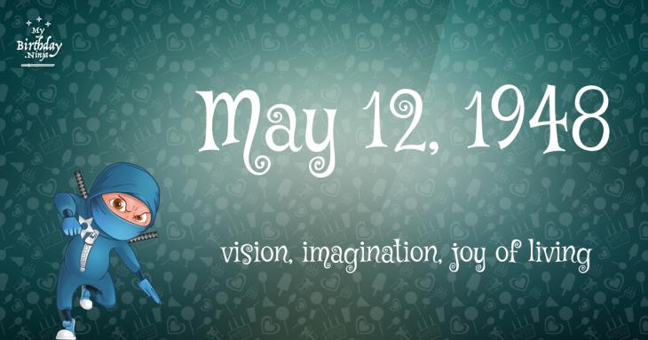 May 12, 1948 Birthday Ninja