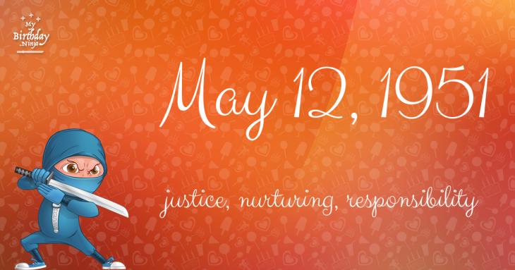 May 12, 1951 Birthday Ninja