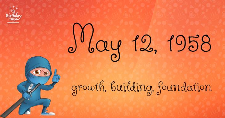 May 12, 1958 Birthday Ninja