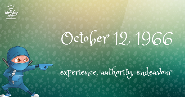 October 12, 1966 Birthday Ninja