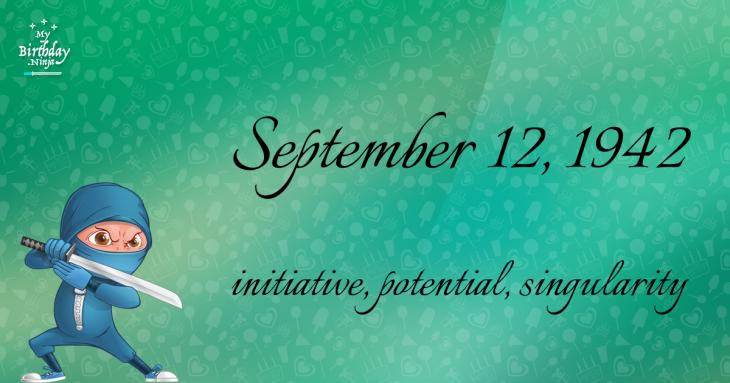 September 12, 1942 Birthday Ninja