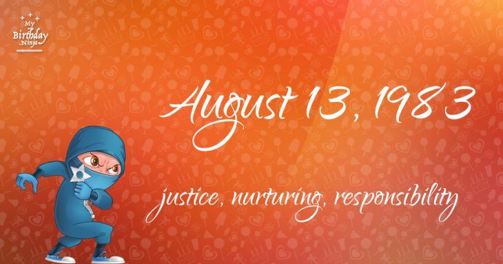 August 13, 1983 Birthday Ninja