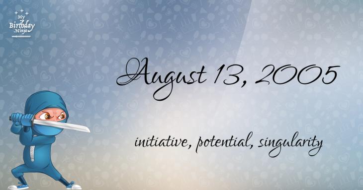 August 13, 2005 Birthday Ninja