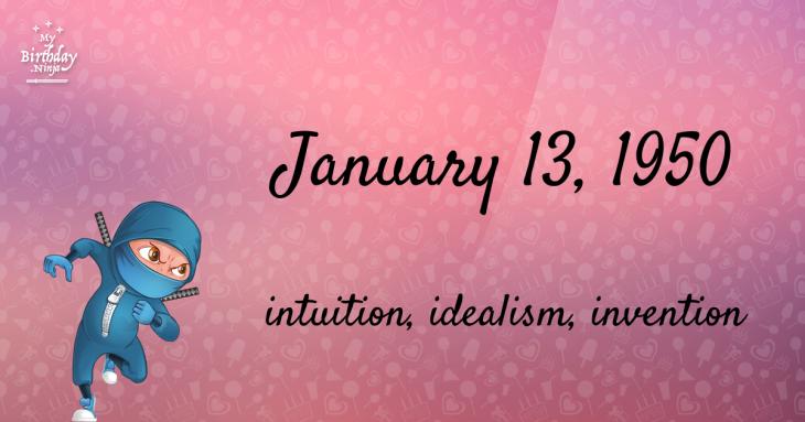 January 13, 1950 Birthday Ninja