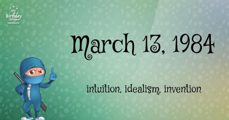 March 13, 1984 Birthday Ninja