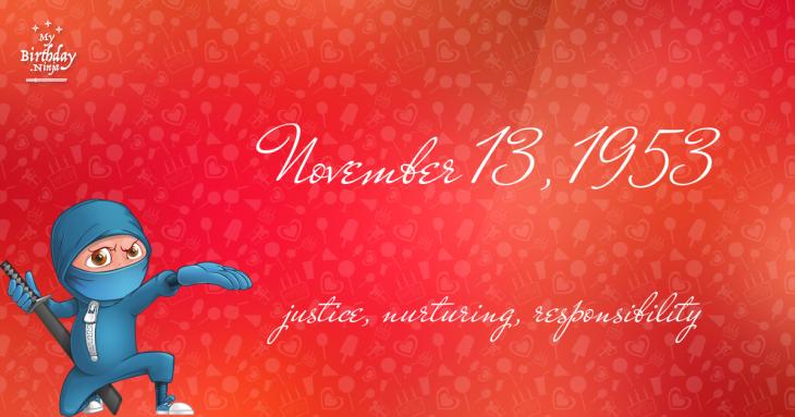 November 13, 1953 Birthday Ninja