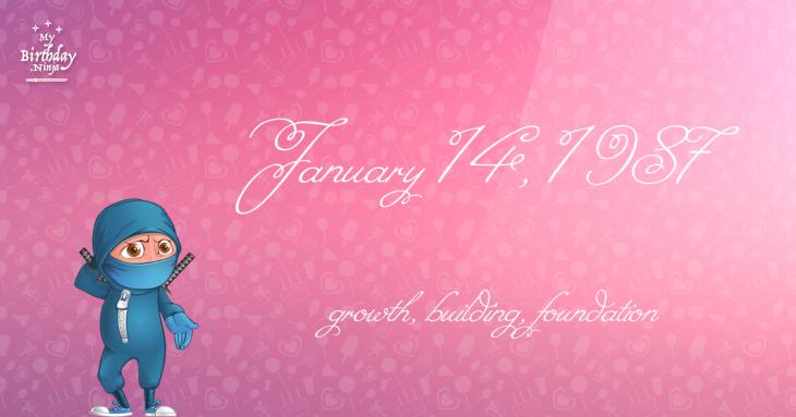 January 14, 1987 Birthday Ninja