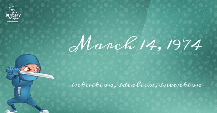 March 14, 1974 Birthday Ninja