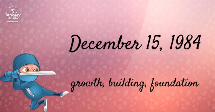 December 15, 1984 Birthday Ninja