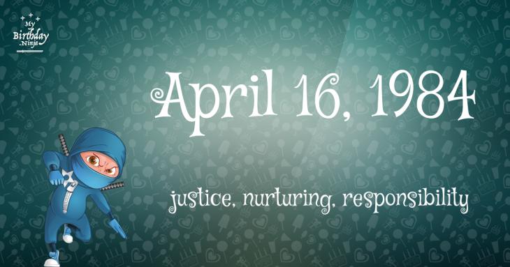 April 16, 1984 Birthday Ninja