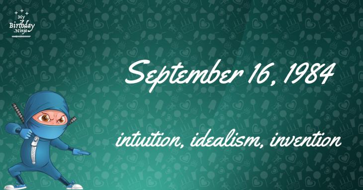 September 16, 1984 Birthday Ninja