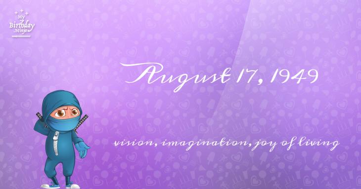 August 17, 1949 Birthday Ninja