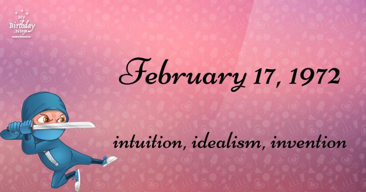 February 17, 1972 Birthday Ninja