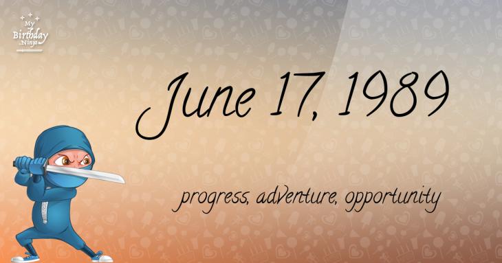 June 17, 1989 Birthday Ninja