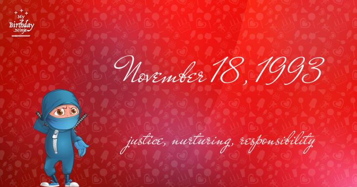 November 18, 1993 Birthday Ninja