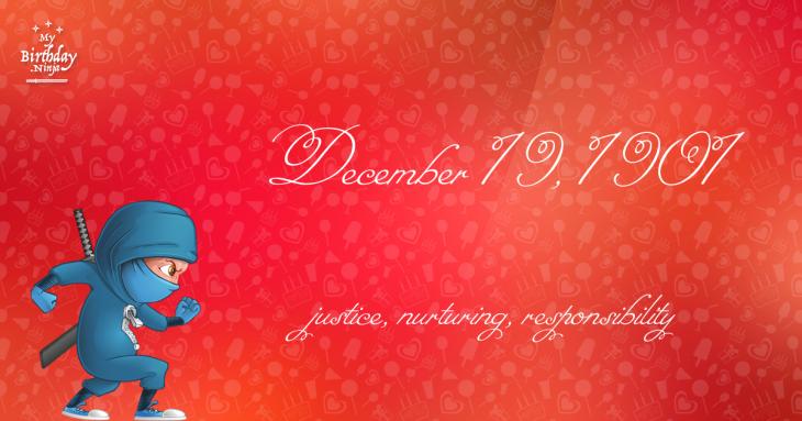 December 19, 1901 Birthday Ninja