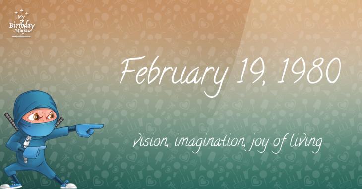 February 19, 1980 Birthday Ninja