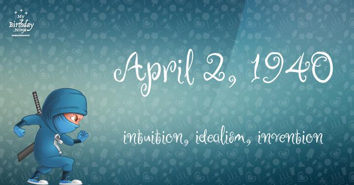 April 2, 1940 Birthday Ninja