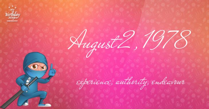 August 2, 1978 Birthday Ninja
