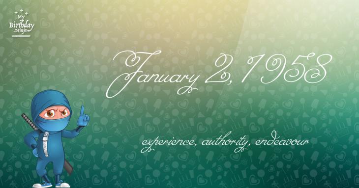 January 2, 1958 Birthday Ninja