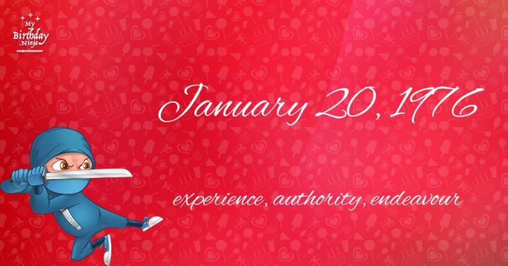 January 20, 1976 Birthday Ninja