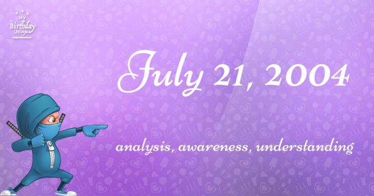 July 21, 2004 Birthday Ninja