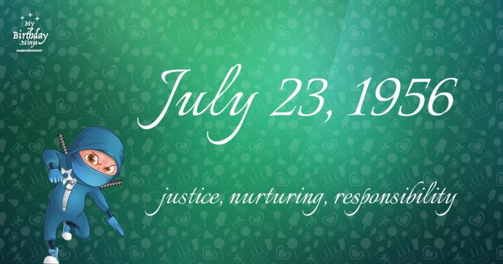 July 23, 1956 Birthday Ninja