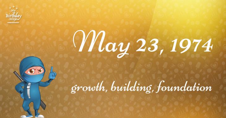 May 23, 1974 Birthday Ninja