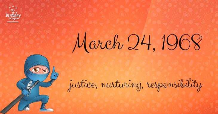 March 24, 1968 Birthday Ninja