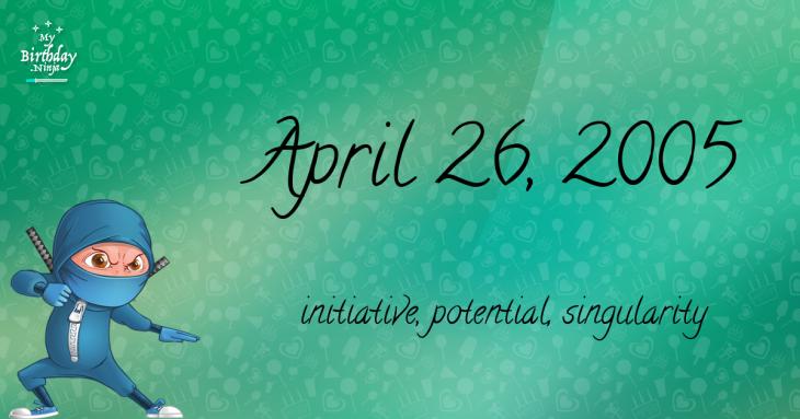 April 26, 2005 Birthday Ninja