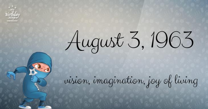 August 3, 1963 Birthday Ninja
