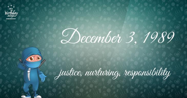 December 3, 1989 Birthday Ninja