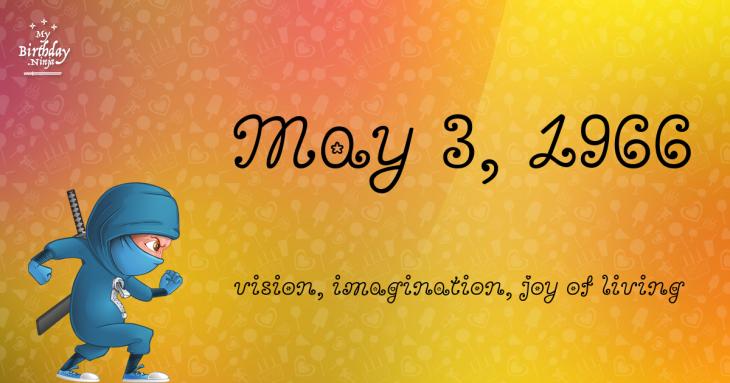 May 3, 1966 Birthday Ninja