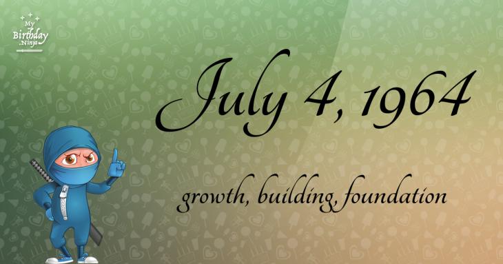 July 4, 1964 Birthday Ninja