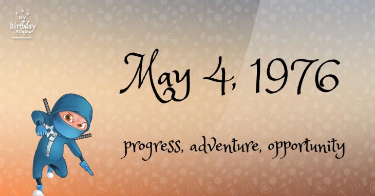 May 4, 1976 Birthday Ninja