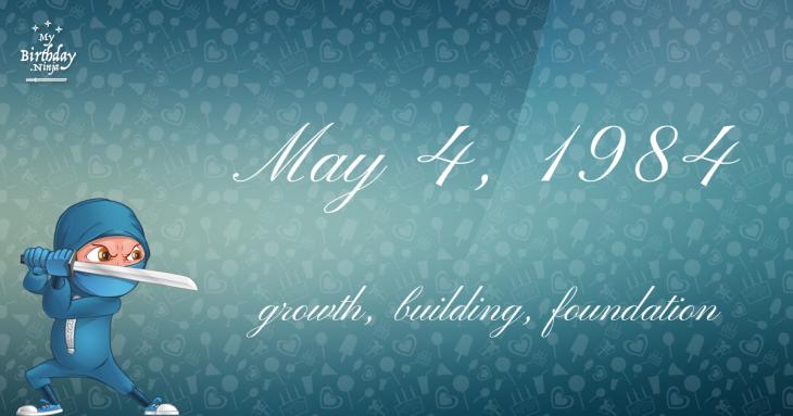 May 4, 1984 Birthday Ninja