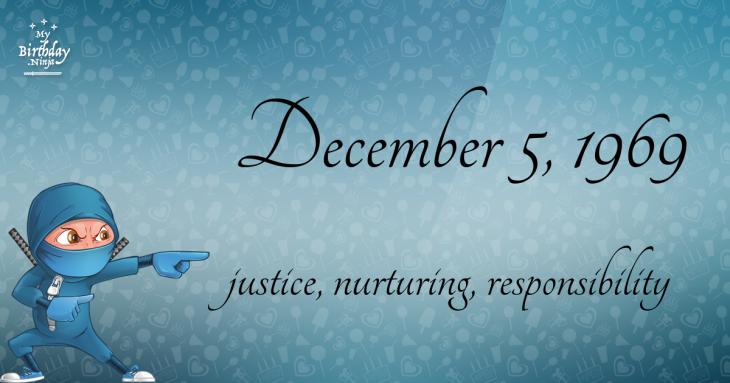 December 5, 1969 Birthday Ninja