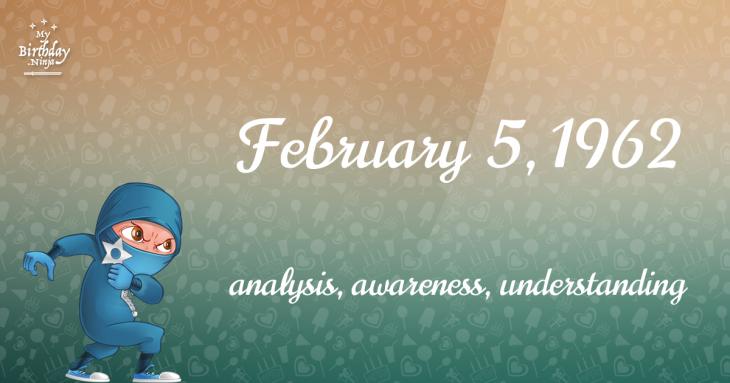 February 5, 1962 Birthday Ninja